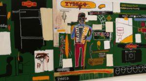 Zydeco, 1984, Basquiat. Zyndeco is cajun muziek van de Zuid Louisiana