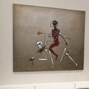 Riding with death, 1988, één van de laatste werken van Basquiat
