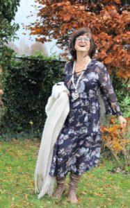 Faux fur jasje en boho jurk
