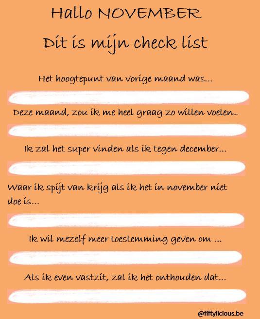november checklist