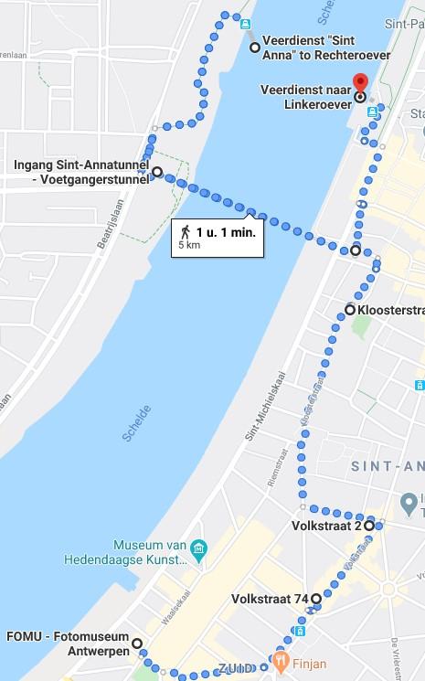 wandeling t Zuid Antwerpen